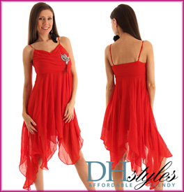 Dainty Chiffon Kerchief Cocktail Dress