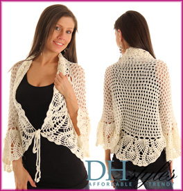 Cute Crochet Knit Long Sleeve Cardigan