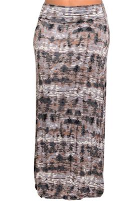 \Plus Size Trendy Tye-Dye Flowy Maxi Skirt