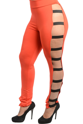 Plus Size Sexy Open Leg Bandage Pants