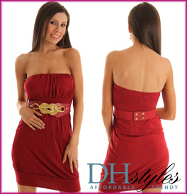 Strapless Belted Bubble Clubbin' Dress