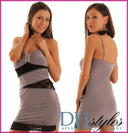 Slinky Elegance Lace Peep Show Dress