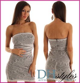 Chantilly Lace Romantic Strapless Dress