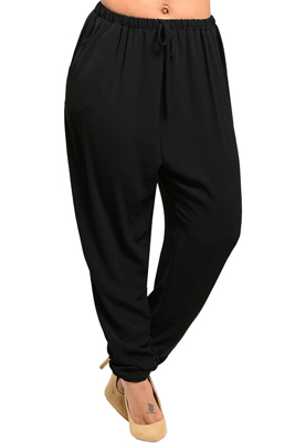Plus Size Sexy Chic Cinched Waist Flowy Pants