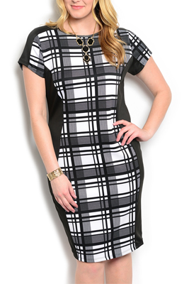 Plus Size Sexy Fitted Abstract Date Dress