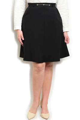 Plus Size High Waisted Skirt With Belt