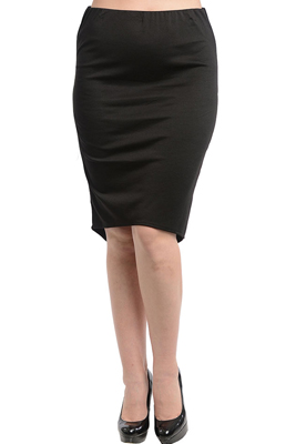 Plus Size Classic Knee Length Fitted Pencil Skirt
