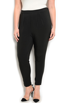 Plus Size Dressy Soft Knit Skinny Pants