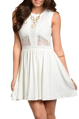 Sexy Lace Cut Out Sleeveless Party Dress