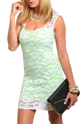 Sweet Floral Overlay Fitted Knit Party Dress