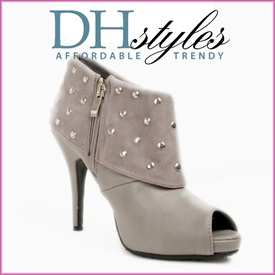 Studded Peep Toe Rock Show Bootie