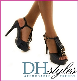 High Struttin Flap Front Pleather Heel