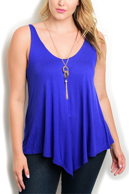 Plus Size Asymmetrical Halter Top Necklace